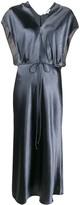 Vince metallic flutter-sleeve dress