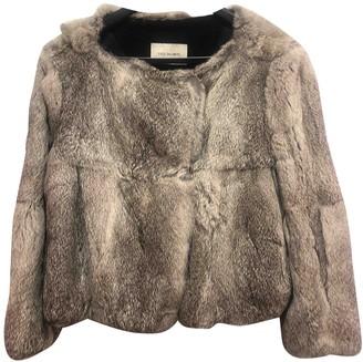 Yves Salomon Grey Fur Leather jackets
