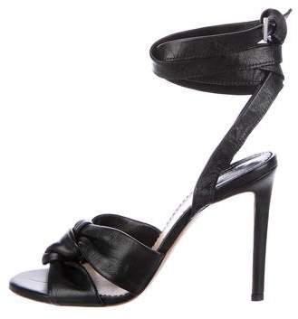Altuzarra Leather Wrap-Around Sandals