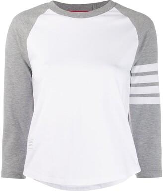 Thom Browne striped detail T-shirt