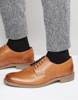 Lambretta Derby Shoes In Tan Leather