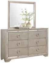 Abbyson Grayson Mirrored 6-Drawer Dresser and Mirror Set (2 PC)