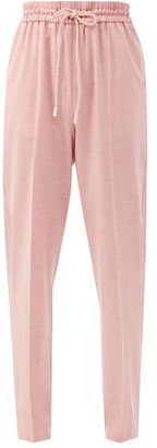 Roksanda Palmira Elasticated-waist Wool-blend Trousers - Light Pink