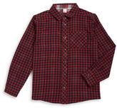 Petit Lem Boys 2-7 Reversible Snap Button Plaid Shirt