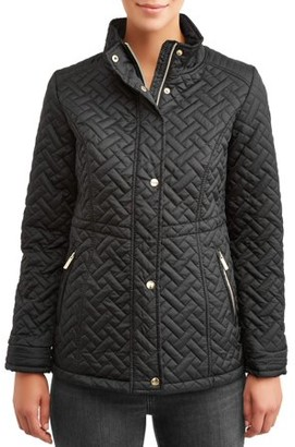 Big Chill Women's Basketweave Quilted Anorak Jacket