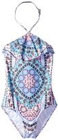 Seafolly Ditsy Romance Ruffle Tank One-Piece Girl's Swimsuits One Piece