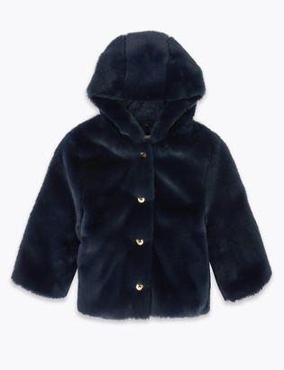 Marks and Spencer Hooded Faux Fur Coat (0-3 Yrs)