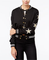 Material Girl Juniors' Star Patch Bomber Jacket, Only at Macy's