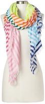 Gap Stripe fringe scarf