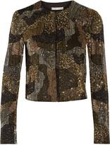 Alice + Olivia Kidman embellished silk-twill jacket