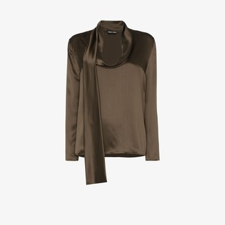 Tom Ford Cowl Neck Silk Blouse
