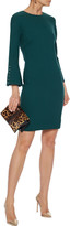 Thumbnail for your product : Lela Rose Faux Pearl-embellished Wool-blend Crepe Mini Dress