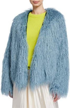 Forte Forte Mongolian Shaggy Faux Fur Coat