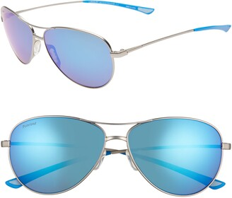 Smith Langley 60mm ChromaPop(TM) Polarized Aviator Sunglasses