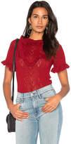 Carolina K. Victoria Sweater in Red. - size L (also in M,S,XS)