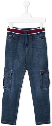 Dolce & Gabbana Washed Denim Cargo Pants