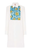 Figue Ivory Embroidered emmanuel tuxedo tunic