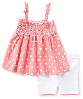 Starting Out Baby Girls 12-24 Months Dotted Top & Shorts Set