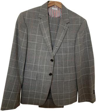 Thom Browne Grey Wool Suits