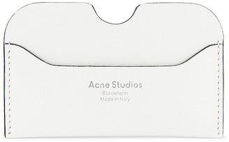 Acne Studios Wallet in White & Black | FWRD