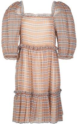 Sea New York Tiered Checked Print Dress