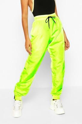 boohoo High Waist Shell Suit Track Pant