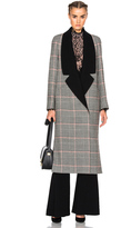 Lanvin Plaid Wool Coat