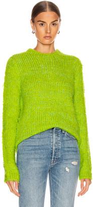 Sies Marjan Leta Fuzzy Slim Sweater in Lime & Iris Apple | FWRD