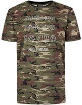 Antioch Camouflage Alien Generation Print T-Shirt*