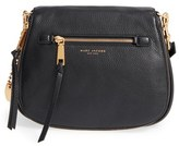 Marc Jacobs Recruit Nomad Pebbled Leather Crossbody Bag - Black