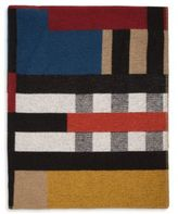 Burberry Colorblock Check Wool & Cashmere Blanket