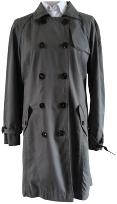 Gerard Darel Khaki Cotton Trench Coat for Women