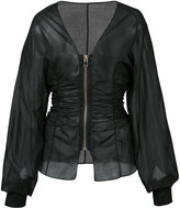 Alexandre Vauthier fitted zip jacket - women - Cotton - 34