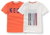 La Redoute Collections Pack of 2 Short-Sleeved T-Shirts, 10-16 Years