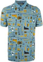 Dolce & Gabbana musical instrument print polo shirt - men - Cotton - 50
