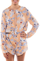 Coveted Clothing Women's Rompers PEACH - Peach Floral Cutout Romper - Women
