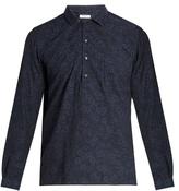 Boglioli Floral-jacquard cotton shirt