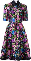 Oscar de la Renta allover print shirt dress - women - Silk/Cotton - 14