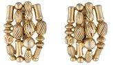 Oscar de la Renta Textured Clip-On Earrings