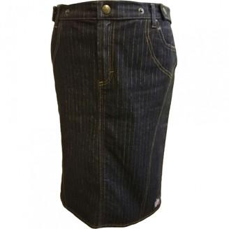 Just Cavalli Black Cotton Skirt for Women