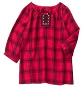 Crazy 8 Embroidered Plaid Top