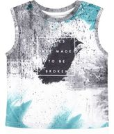 River Island Mini boys white print tank