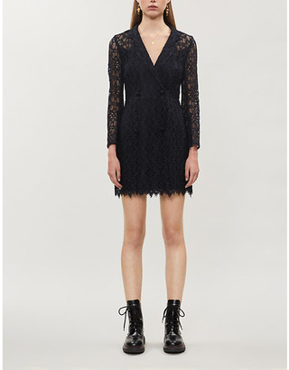 Sandro Nanie floral-embroidered lace mini dress