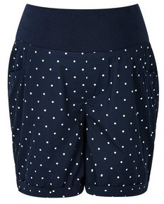 Dorothy Perkins Womens Maternity Blue Spot Print Short, Blue