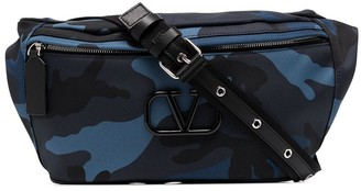 Valentino Camouflage-Print Belt Bag