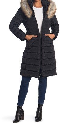 Laundry by Shelli Segal Faux Fur Trimmed Puffer Coat