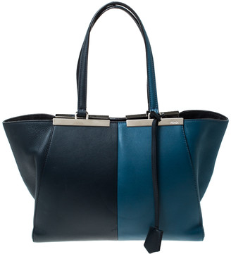 Fendi Bi Color Leather 3 Jours Tote