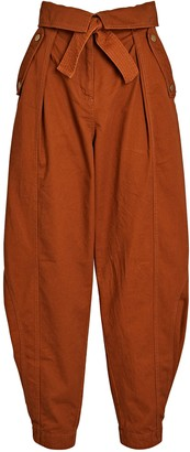 Ulla Johnson Rowen Tapered High-Rise Pants