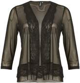 Izabel London Sheer Victoriana Border Cardigan