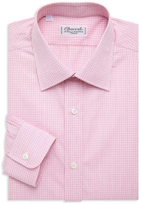 Charvet Check Cotton Dress Shirt